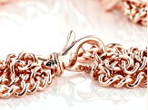 18k Rose Gold Over Bronze Grande Curb 20 1/2 inch Necklace