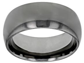 Gunmetal Rhodium Over Bronze Comfort Fit Band Ring