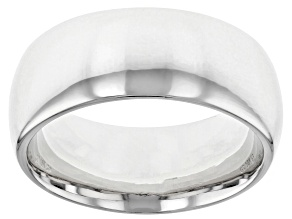 Rhodium Over Bronze Comfort Fit Band Ring