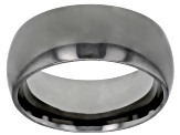 Gunmetal Rhodium Over Bronze Comfort Fit Band Ring