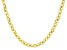 18k Yellow Gold over Bronze Polished Rolo 18 inch Necklace