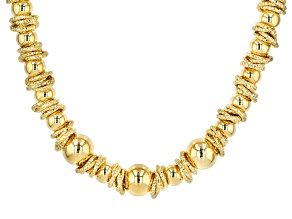 Moda Al Massimo® 18k Yellow Gold Over Bronze Designer Ball Station 20 1/2 inch Necklace