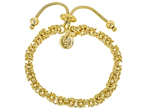 Moda Al Massimo®  Yellow Gold Over Bronze Byzantine Bolo Bracelet