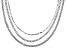 Rhodium Over Bronze Multi-Chain 20 inch Necklace