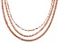 18k Rose gold Over Bronze Multi-Chain 20 inch Necklace