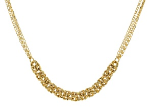 Moda Al Massimo(R) 18k Yellow Gold Over Bronze Byzantine Center 20 inch Necklace