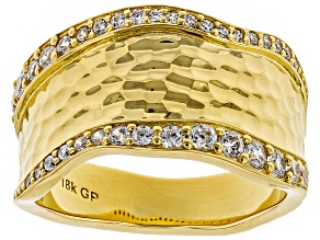 Moda Al Massimo® White Cubic Zirconia 18k Yellow Gold Over Bronze Band Ring