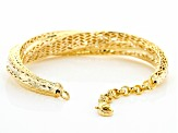 Moda Al Massimo® 18K Yellow Gold Over Bronze Crossover Bangle Bracelet