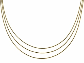 Moda Al Massimo® 18K Yellow Gold Over Bronze Multi-Strand Link Chain Necklace 20 Inch