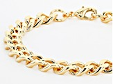 Moda Al Massimo® 18K Yellow Gold Over Bronze Curb Link Bracelet 8.25 Inches