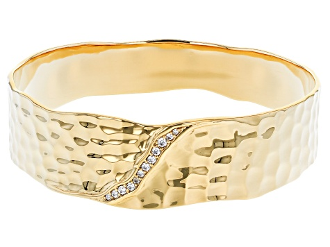 Moda Al Massimo®  Bella Luce® White Cubic Zirconia 18K Yellow Gold Over Bronze Bracelet 8 Inch