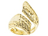 Moda Al Massimo™ 18k Yellow Gold Over Bronze Textured Bypass Ring