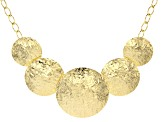 Moda Al Massimo™ 18k Yellow Gold Over Bronze Graduated Textured Disc 22 inch Necklace