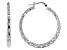 Moda Al Massimo™ 29mm Rhodium over Bronze Diamond Cut Hoop Earrings