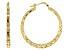 Moda Al Massimo™ 29mm 18k Yellow Gold over Bronze Diamond Cut Hoop Earrings