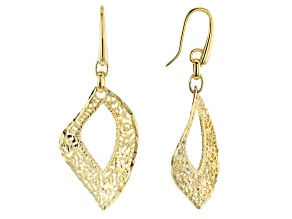 Moda Al Massimo™ 18k Yellow Gold Over Bronze Filigree Dangle Earrings