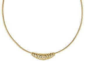 Moda Al Massimo™ 18k Yellow Gold Over Bronze Filigree Slide with Omega 18 inch Necklace