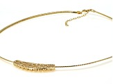 Moda Al Massimo™ 18k Yellow Gold Over Bronze Filigree Slide with Omega 18 inch Necklace