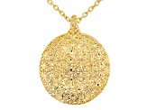 Moda Al Massimo™ 18k Yellow Gold Over Bronze Designer Filigree 19.5 inch Necklace