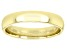 Moda Al Massimo® 18k Yellow Gold Over Bronze Comfort Fit 4MM Band Ring