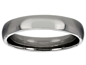 Moda Al Massimo® Gunmetal Rhodium Over Bronze Comfort Fit 4MM Band Ring