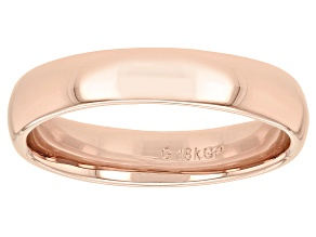 Moda Al Massimo® 18k Rose Gold Over Bronze Comfort Fit 4MM Band Ring