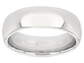 Moda Al Massimo® Rhodium Over Bronze Comfort Fit 6MM Band Ring