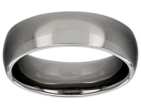 Moda Al Massimo® Gunmetal Rhodium Over Bronze Comfort Fit 6MM Band Ring