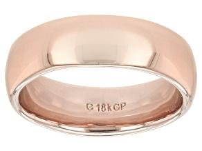 Moda Al Massimo® 18k Rose Gold Over Bronze Comfort Fit 6MM Band Ring