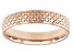 Moda Al Massimo® 18k Rose Gold Over Bronze Comfort Fit 4MM Designer Band Ring
