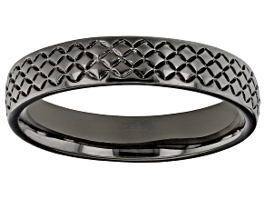Moda Al Massimo® Gunmetal Rhodium Over Bronze Comfort Fit 4MM Designer Band Ring