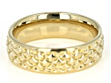 Moda Al Massimo® 18K Yellow Gold Over Bronze Comfort Fit 6MM Designer Band Ring