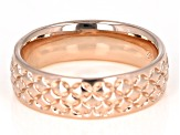 Moda Al Massimo® 18K Rose Gold Over Bronze Comfort Fit 6MM Designer Band Ring