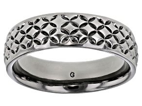 Moda Al Massimo® Gunmetal Rhodium Over Bronze Comfort Fit 6MM Designer Band Ring