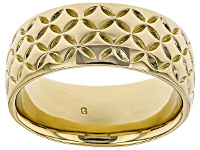 Moda Al Massimo® 18k Yellow Gold Over Bronze Comfort Fit 8MM Designer Band Ring