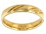 Moda Al Massimo(R) 18k Yellow Gold Over Bronze Comfort Fit 4MM Diamond Cut Band Ring