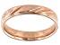 Moda Al Massimo® 18k Rose Gold Over Bronze Comfort Fit 4MM Diamond Cut Band Ring