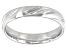 Moda Al Massimo® Comfort Fit Rhodium Over Bronze 4MM Diamond Cut Band Ring