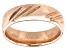 Moda Al Massimo® 18k Rose Gold Over Bronze Comfort Fit 6MM Diamond Cut Band Ring