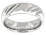 Moda Al Massimo® Rhodium Over Bronze Comfort Fit Diamond Cut 6MM Band Ring