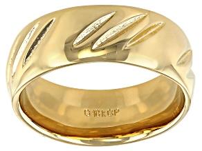 Moda Al Massimo® 18k Yellow Gold Over Bronze Comfort Fit 8MM Diamond Cut Band Ring