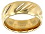 Moda Al Massimo® 18k Yellow Gold Over Bronze Comfort Fit 8MM Diamond Cut Band Ring