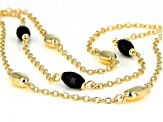 .75ctw Black Onyx 18k Yellow Gold Over Bronze Bracelet.