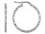 Rhodium over bronze hoop earrings.