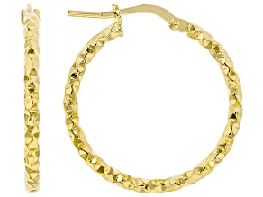 18k yellow gold over bronze hoop earrings.