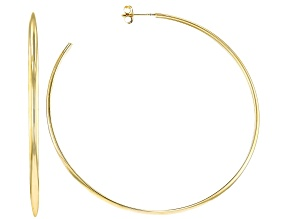 Moda AL Massimo® 18K Yellow Gold Over Bronze Open 60MM Hoop Earrings.