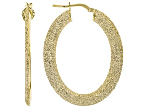 MODA AL MASSIMO(R) 18K YELLOW GOLD OVER BRONZE OVAL HOOP EARRINGS