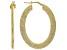 MODA AL MASSIMO(R) 18K YELLOW GOLD OVER BRONZE OVAL HOOP EARRINGS