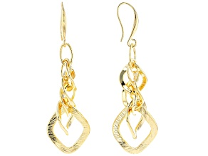18k yellow gold over bronze earrings.