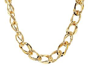 "Moda Al Massimo™ 18K Yellow Gold Over Bronze Necklace 20"""